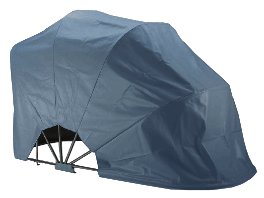 BIKEHOME Folding Motorbike Shelter dark grey