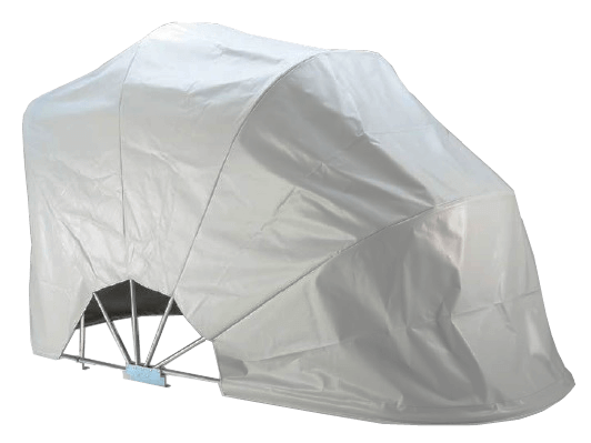 BIKEHOME Folding Motorbike Shelter light grey