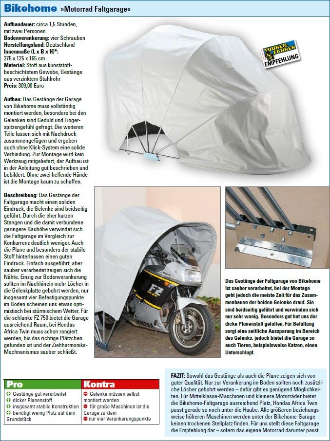 motorrad faltgarage test motorrad faltgarage f r den. Black Bedroom Furniture Sets. Home Design Ideas